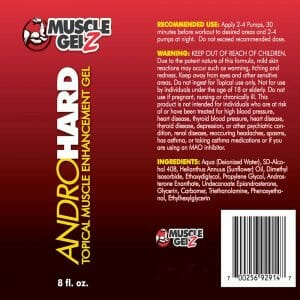 AndroHard Ingredients