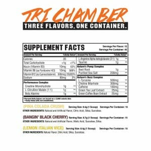 Vice Tri-Chamber New Era Supp Facts