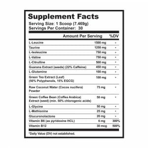 Amino Energize Cherry Limeade Supp Facts