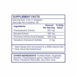 Glyco Manager RX Supp Facts