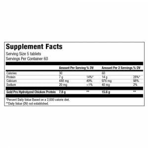 Gold Chicken Pro Supplement Facts