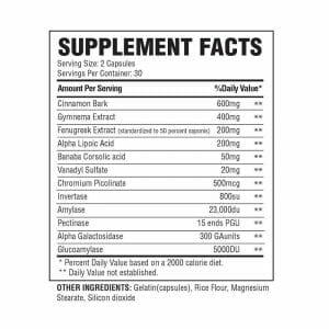 Humaslin Supp Facts