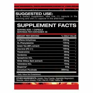 Lean Fuel V2 Supp Facts