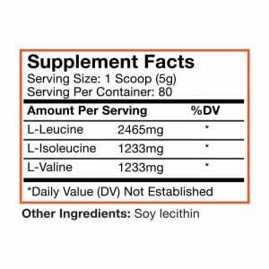 Premium Powders BCAA Supp Facts