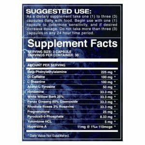 Stimulate Supp Facts