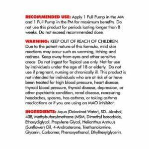 Super 4-Andro Cream Supp Facts