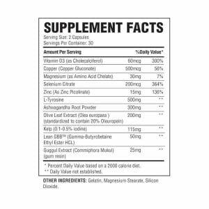 thyrogenic supp facts