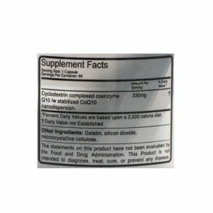 Ultra Co Q10 Supp Facts