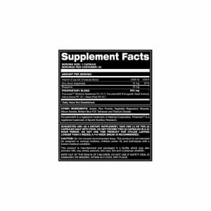 Ultra Male RX Supp Facts