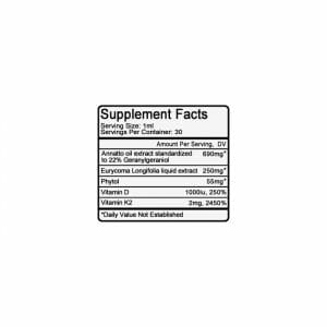 Ultra Test Supp Facts