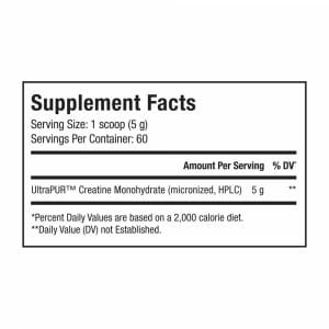 Pure Creatine Monohydrate Supp Facts