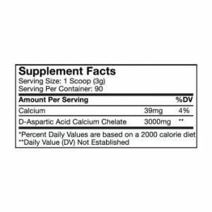 D-Aspartic Acid Supp Facts