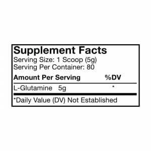 Glutamine Supp Facts