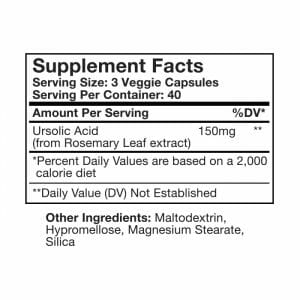 Ursolic Acid Supp Facts