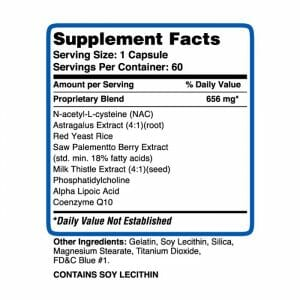 Forged Liver Support Supp Facts