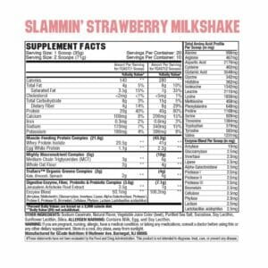 Feast Complete Protein - Strawberry Milkshake Supp Facts